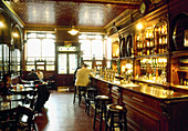 The inside of Bennets bar. Edinburgh. Scotland. UK