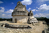 The high part of the Observatory (Caracol) (UNESCO World Heritage). Chichen Itza. Yucatan. Mexico.