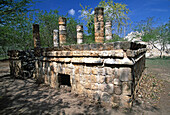 View of the Tombs Platform (UNESCO World Heritage). Chichen Itza. Yucatan. Mexico.
