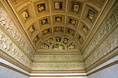 Te Palace: Sala degli stucchi . The vault. Montova. Lombardy, Italy