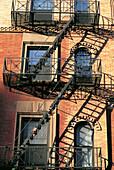 Fire escape. Manhattan. NYC. USA