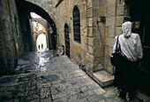 Paved street in jewish quarter. Jerusalem. Israel