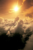 Air, Cloud, Clouds, Color, Colour, Contemporary, Exterior, Immense, Immensity, Nature, Orange, Orange tone, Outdoor, Outdoors, Outside, Purity, Scenic, Scenics, Shine, Shining, Skies, Sky, Sun, Sunlight, Toned, Vast, Vastness, Vertical, Yellow, A91-19955