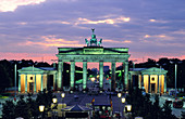 Brandenburg Gate at dusk. Berlin. Germany