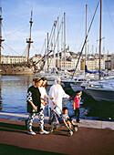 Algerian family. Old harbour. Marseille. France