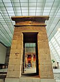 Temple of Dendur in the Metropolitan Museum of Art. New York City. USA