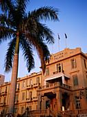 Winter Palace hotel façade on Nile river, Luxor. Egypt