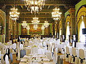 Dining room in luxury Hotel Alfonso XIII. Sevilla. Andalusia, Spain