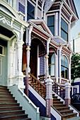 Victorian houses nicknamed painted lady . San Francisco. California. USA.