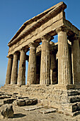 Temple of Concorde built 5th century AD in classical doric style, considered as the greek temple in best condition in the world. Agrigente. Sicily. Italy.