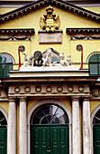 Close up on the Chikanender theater façade. Vienna. Austria