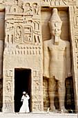 Nefertari (Ramses II wife) Temple on Lake Nasser bank. Abu Simbel. Nubia. Egypt