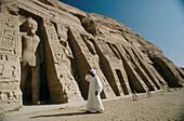 Nefertari Temple (Ramses II wife) Temple on Lake Nasser bank, Abu Simbel. Nubia, Egypt