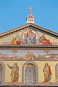 St. Paul s basilica, façade mosaics. Rome. Italy