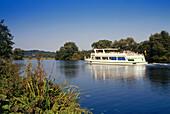Excursion boat, Witten, Ruhr Valley, Ruhr, Northrhine, Westphalia, Germany