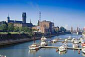 Marina, Basin, Duisburg, Ruhr Valley Ruhr, North Rhine Westphalia, Germany
