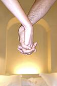Adult, Adults, Bed, Bedroom, Bedrooms, Beds, Bond, Bonding, Bonds, Close up, Close-up, Closeup, Color, Colour, Concept, Concepts, Contemporary, Couple, Couples, Detail, Details, Female, Hand, Hand holding, Hand-holding, Hands, Hold hands, Holding hands,