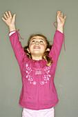 d, Female, Gesture, Gestures, Gesturing, Girl, Girls, Hopeful, Human, Indoor, Indoors, Infant, Infant