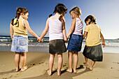 Exterior, Family, Female, Four, Four persons, Fresh, Friend, Friends, Friendship, Full-body, Full-le