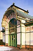 Karlplatz cafe designed by Otto Wagner. Vienna. Austria