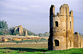 Ruins of the great circus at Via Appia (old Roman road). Rome. Italy