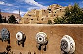 Adobe walls of Inn and Spa at Loretto. Santa Fe. New Mexico, USA