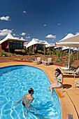 Luxury Hotel Longitude at entrance of the Uluru Kata Tjuta National Park (Ayers Rock & olgas).