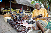 Traditional zulu craft center near Saint Lucia Park. Kwazulu-Natal province. South Africa