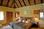 A room interior. The luxurious Phinda Lodge located in a private 17000 hectares private park. Kwazulu-Natal province. South Africa