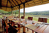 The luxurious Suza Lodge located in the private 17000 hectares Phinda park. Kwazulu-Natal province. South Africa