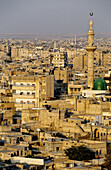 Overview from the citadel. Aleppo. Syria