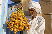 Freshly cropped dates, Nubian village of Soleb. Upper Nubia, ash-Shamaliyah state, Sudan