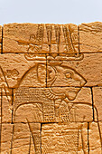 Lion-Temple of Apedemak and Roman kiosk in Naga, remnants of the Meroitic civilization. Upper Nubia, River Nile state, Sudan
