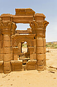 Roman kiosk close to the Lion-Temple of Apedemak in Naga, remnants of the Meroitic civilization. Upper Nubia, River Nile state, Sudan