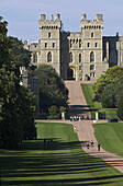 Europe, UK, GB, England, Berkshire, Windsor Castle from Long walk