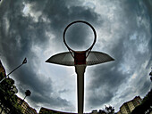 Basket, Basketball, Baskets, Cloud, Clouds, Cloudy, Color, Colour, Contemporary, Court, Courts, Daytime, Exterior, Game, Games, Hoop, Hoops, House, Houses, Leisure, Low angle view, Net, Nets, Outdoor, Outdoors, Outside, Overcast, Play, Plays, Shadow, Sha