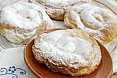 Ensaimada , typical pastry. Majorca, Balearic Islands. Spain