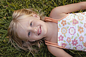 e, Girl, Girls, Grass, Grin, Grinning, Happiness, Happy, High above, Horizontal, Human, Infant, Infan