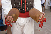 The world s biggest castanets, traditional costumes and folk dances. Ibiza, Balearic Islands. Spain