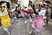 Cossiers folk dances, San Bartolomé festival. Montuiri. Majorca, Balearic Islands. Spain
