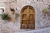 Façade of house in Valldemossa. Majorca, Balearic Islands. Spain