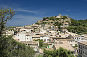 General view of Capdepera, with the Castle at the back. Majorca. Balearic Islands. Spain