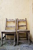 Chairs. Potes. Liébana. Picos de Europa. Cantabria. Spain.