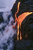 Kilauea lava, Pu-u-O-o flow. Hawaii Volcanoes National Park. Big Island, Hawaii. USA.
