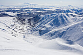 Volcanos in the snow. Kamchatka, Sibiria, Russia.