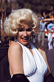 Woman as Marilyn Monroe, Los Angeles. California, USA