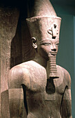 Statue of Amenhotep II in antiques museum. Luxor, Egypt