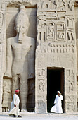 Temple dedicated to Hathor (smaller Abu Simbel temple), Abu Simbel. Egypt