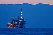 Oil production platform. California. USA