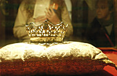 Crown of Queen Isabella the Catholic. Royal Chapel Museum at the Cathedral. Granada. Andalusia. Spain